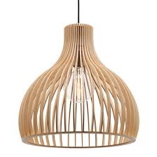 Mercator Treasure Large Natural Plywood Shade Pendant Light