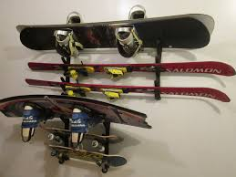 ski snowboard skateboard wakeboard sport storage display holder wall mount rack 804879053880