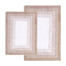 chesapeake merchandising whitney doeskin beige ombre reversible two piece bath rug set