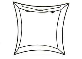frame lamp lamp shade wire frame for table lamp cube 4 sided custom made black lampshade