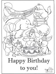 Small Picture The 28 best images about Happy Birthday coloring pages on Pinterest