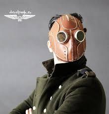 steampunk mask leather mask cyberpunk mask post apocalyptic mask larp mask