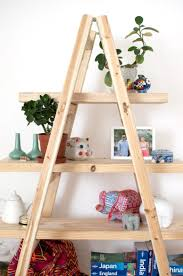 looked really cool as a shoe rack diy ladder shelves teach me with