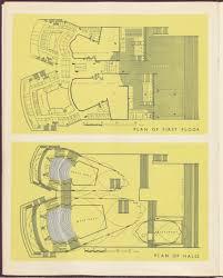 plan of first floor halls sydney opera house gold book