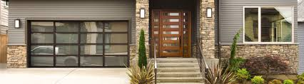 contemporary aluminum garage doors model 8800 bronze powder coated aluminum satin etched glass
