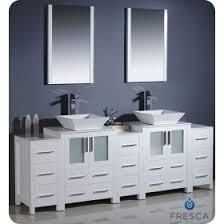 fresca torino 24 inch white modern bathroom vanity with vessel sink. fresca torino (double) 84-inch white modern bathroom vanity with vessel sinks 24 inch sink n