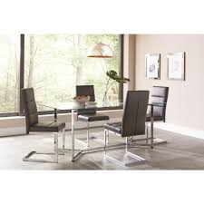 coaster augustin collection black chrome dining chair set of 2