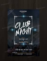 psd photoshop flyer posters templates net club night party psd flyer template