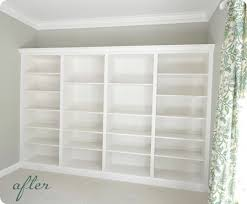 DIY Builtin bookshelves using IKEA units Also includes a howto