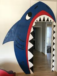 Shark Decorations For Bedroom Shark Door Decoration Diy Plastic Layers Pirates Bedroom
