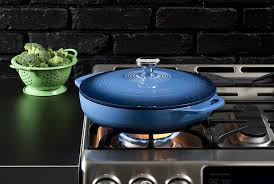 lodge enameled cast iron covered casserole 3 quart