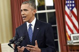 president in oval office. U.S. President Barack Obama Delivers An Address To The Nation In Oval Office Of O