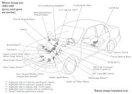 common repairs for the toyota corolla and matrix sensor locations and such