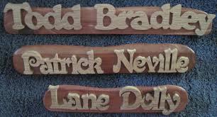 desk name plates the wood butcher pe deck name plate custom name plate