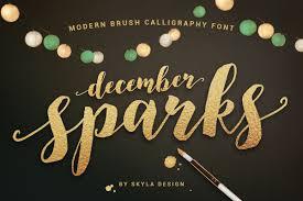 Calligraphy Fonts Modern Brush Calligraphy Font December Sparks