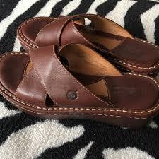 Walnut Shoes Size Chart Born Chart Walnut Platform Leather Strappy Slides