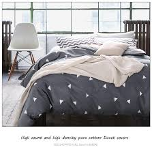 high count density cotton duvet covers set black bedding set double single duvet covers twin queen king size