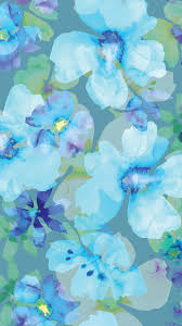 Iphone Turquoise Floral Wallpaper ...