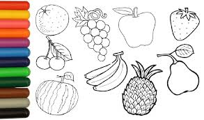 Coloring Pictures Of Fruit Free Sensational Fruits Pages And
