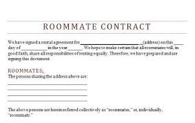 Sample Roommate Contract Roommate Agreement Form Insaat Mcpgroup Co