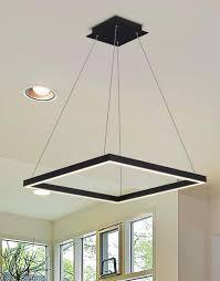atria vmc31620bl 20 led chandelier adjule suspension fixture modern square chandelier light in black