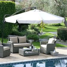 11 foot patio umbrella c coast ft offset umbrella with detachable netting 11 foot offset patio