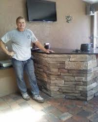 custom cultured stone patio bar windermere fl a15 bar
