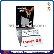 Table Top Product Display Stands Tsda100 Custom High Quality Retail Store Acrylic Camera Display 14