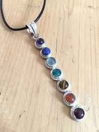 chakra crystal gemstone pendant necklace new age healing jewellery