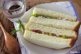 Tuna Sandwich On White Bread With Tomatoes Buy This Stock Photo