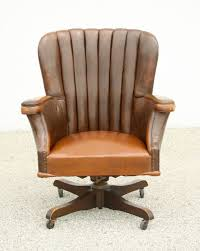 leather antique wood office chair leather antique. Perfect Office Vintage Desk Chair With Original Leather Circa 1940 S At 1stdibs Regard To  Prepare 0 Intended Antique Wood Office