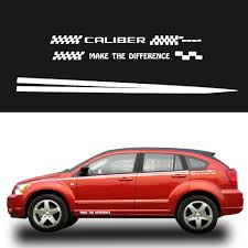 Dodge Caliber Side Light Bulb Replacement Car Side Body Decal Stickers Auto For Dodge Caliber For Hatchback Sedan Suv Pickup Truck Decals Diy Car Decoration Sticker 280cm