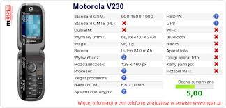Twojej stronie Motorola V230 ...