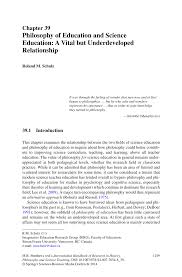 Importance Of Philosophy In Curriculum Design Pdf Philosophy Of Education And Science Education A Vital
