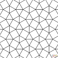 Small Picture Tessellation With Triangle And Square Tiling Coloring Page