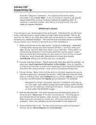 Marketing Objective For Resume Resume Peppapp