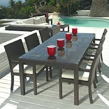 outdoor table and chairs. Outdoor Wicker Patio Furniture New Resin 7 Pc Dining Table Set With 6 Chairs And I