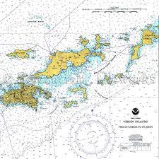 Bvi Navigation Charts Islands British Virgin Islands W Color Nautical Chart Decor