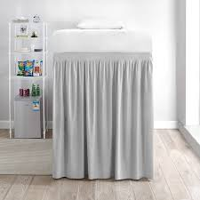 twin xl bed skirt. Delighful Twin Extended Bed Skirt Twin XL  Glacier Gray For Raised Or Lofted Beds Throughout Xl