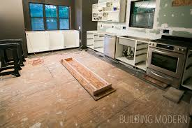 Small Picture Hardwood floor installation for the kitchen foyer