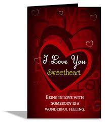 i love you sweetheart greeting card