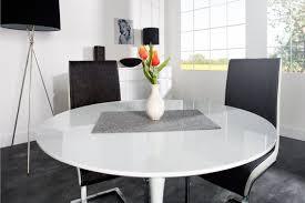 Table De Cuisine Ronde En Verre Pied Central Table Ronde Blanche