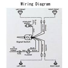 street rod turn signal wiring diagram images chrome 12v universal street hot rod turn signal switch for ford buick