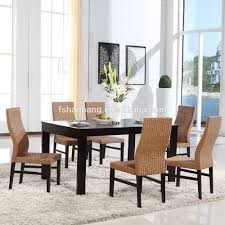 Wicker Living Room Sets 2016 New Modern Design Rattan Water Hyacinth Wooden Coffee Shop