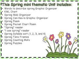 Spring A Mini Thematic Unit