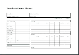 Workout Schedule Template Excel Chart Daily Group Exercise Class