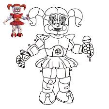 Fnaf Coloring Pages Baby Sister Location Cc22 Info