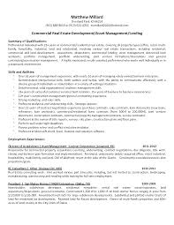 Perfect Commercial Property Manager Resume Samples Mold