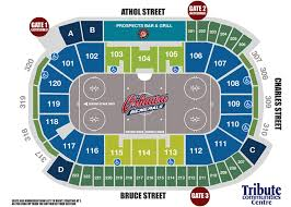 Barrie Colts Arena Seating Chart Oshawa Generals Vs Barrie Colts Tribute Communities Centre