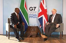 Ramaphosa was idly waiting for his laptop. S Africa S President Ramaphosa Urges G7 Nations To Plug Covid 19 Funding Gap Reuters